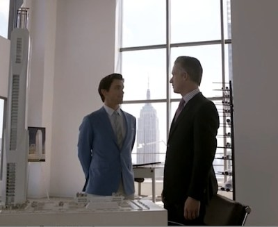 Neal Caffrey (Matt Bomer) poses as an architect to bring down developer Cole Edwards (Reed Diamond) (Image © USA Network)