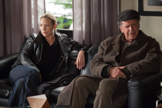 """FRINGE: Olivia (Anna Torv, L) and Walter (John Noble, R) learn the origin of the Child Observer in the all-new """"This Boy Must Live"""" episode of FRINGE airing Friday, Jan.11 (9:00-10:00 PM ET/PT) on FOX. ©2012 Fox Broadcasting Co. CR: Liane Hentscher/FOX"""