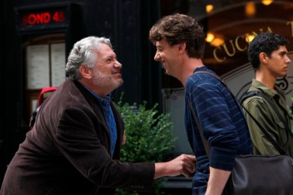 Harvey Fierstein as Harvey Fierstein, Christian Borle as Tom Levitt -- (Photo by: Will Hart/NBC)