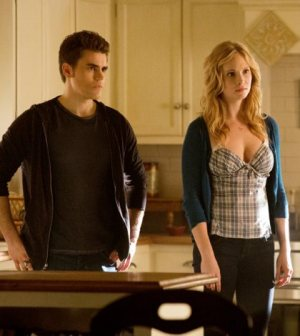 Paul Wesley and Candice Accola. Image © The CW Network