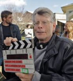 "Stephen King on the set of CBS' ""Under the Dome"""