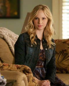 Candice Accola as Caroline. Image © The CW Network
