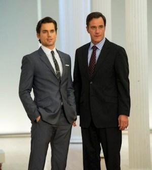 Matt Bomer and Tim DeKay as Neal Caffrey and Peter Burke - (Photo by: David Giesbrecht/USA Network)