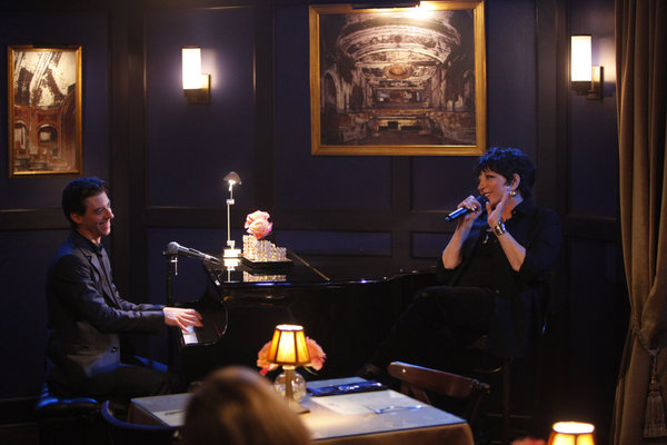 Tom (Christian Borle) rehearses with Liza Minnelli (Photo by: Will Hart/NBC)