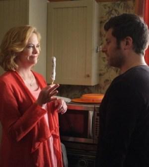 Cybill Shepherd as Madeleine Spencer, James Roday as Shawn -- (Photo by: Alan Zenuk/USA Network)