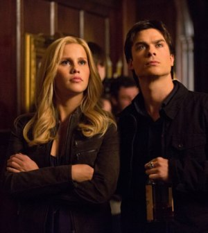 Claire Holt and Ian Somerhalder in The Vampire Diaries. Image © The CW Network