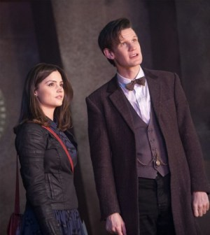 """Jenna Louise Coleman and Matt Smith in """"The Rings of Akhaten"""" Image © BBC"""
