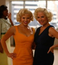 (l-r) Megan Hilty as Ivy Lynn, Daphne Rubin-Vega as Agnes -- (Photo by: Will Hart/NBC)