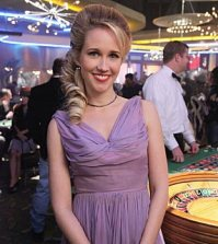 Anna Camp as Violet. Image © CBS