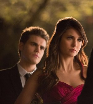 Paul Wesley and Nina Dobrev. Image © CW Network