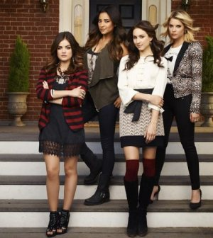 """ABC Family's """"Pretty Little Liars"""" stars Lucy Hale as Aria Montgomery, Shay Mitchell as Emily Fields, Troian Bellisario as Spencer Hastings and Ashley Benson as Hanna Marin. (ABC FAMILY/ANDREW ECCLES)"""