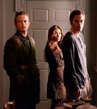 (l-r) David Lyons as Bass, Daniella Alonso as Nora, Billy Burke as Miles Matheson -- (Photo by: Brownie Harris/NBC)