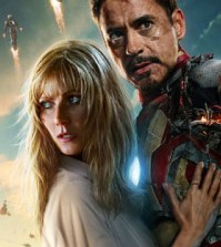 Gwyneth Paltrow and Robert Downey Jr. in Iron Man 3, opening Friday. (Image © Marvel)