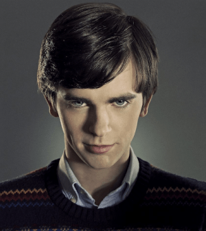 Freddie Highmore as Norman Bates. Image © A&E