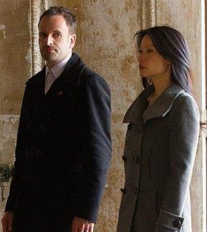 Jonny Lee Miller and Lucy Liu in CBS' Elementary. Image © CBS