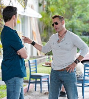 Jeffrey Donovan and Adrian Pasdar in Burn Notice. Image © USA