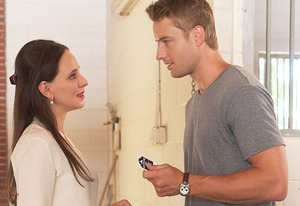 Madeleine Stowe and Justin Hartley in Revenge. Image © ABC