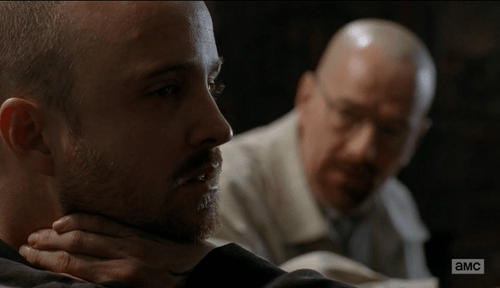 Walt, the devil on Jesse's shoulder. (Image © AMC)