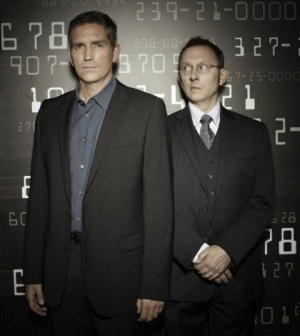 Jim Caviezel (l) and Michael Emerson (r) on Person of Interest. Image © CBS