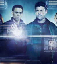 Michael Ealy (L) and Karl Urban (R) in FOX's Almost Human. Co. Cr: Justin Stephens/FOX