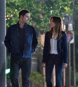 Pictured (L-R): Jay Ryan as Vincent and Kristin Kreuk as Catherine. Photo: Ben Mark Holzberg/The CW