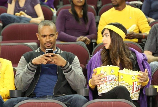 """Cece (Hannah Simone, R) and Coach (Damon Wayans, Jr., L) go out on a date in New Girl's """"Longest Night Ever."""" Co.  Cr: Adam Taylor/FOX"""