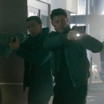 "Det. John Kennex (Karl Urban, R) and Dorian (Michael Ealy, L) in the ""Simon Says"" episode of Almost Human. Co. Cr: Katie Yu / FOX"