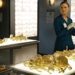 """Brennan (Emily Deschanel) is determined to prove that a serial killer is behind the team's current case in the """"The Ghost in the Killer"""" episode of Bones. Co.  Cr:  Jordin Althaus/FOX"""