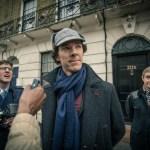 Benedict Cumberbatch as Holmes (c) and Martin Freeman as Watson (b) Image © BBC.