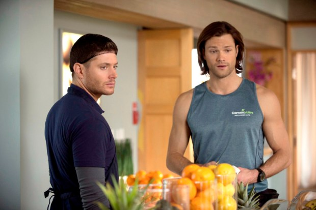 Pictured (L-R): Jensen Ackles as Dean and Jared Padalecki as Sam -- Credit: Cate Cameron/The CW