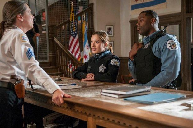 Pictured: (l-r) Marina Squerciati as Kim Burgess, LaRoyce Hawkins as Kevin Altwater -- (Photo by: Matt Dinerstein/NBC)