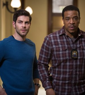 Pictured: (l-r) David Giuntoli as Nick Burkhardt, Russell Hornsby as Hank Griffin -in GRIMM- (Photo by: Scott Green/NBC)