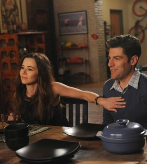 Linda Cardellini and Max Greenfield. Co.  Cr:  Ray Mickshaw/FOX