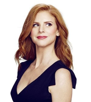 Sarah Rafferty as Donna Paulsen. Image © USA Network