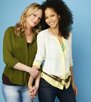 """The Fosters"" stars Teri Polo as Stef and Sherri Saum as Lena. (ABC FAMILY/Andrew Eccles)"