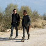 Pictured: (l-r) Billy Burke as Miles Matheson, David Lyons as Sebastian Monroe -- (Photo by: Felicia Graham/NBC)
