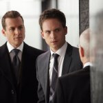 Pictured: (l-r) Gabriel Macht as Harvey Specter, Patrick J. Adams as Mike Ross -- (Photo by: Shane Mahood/USA Network)