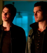 Pictured (L-R): Ian Somerhalder as Damon and Michael Malarkey as Enzo -- Photo: Annette Brown/The CW