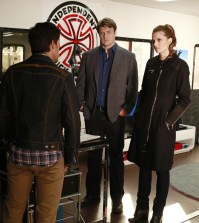 (ABC/Ron Tom) MICHAEL LOMBARDI, NATHAN FILLION, STANA KATIC