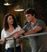Pictured (l-r) Joanne Kelly as Myka Bering, Eddie McClintock as Pete Latimer -- (Photo by: Russ Martin/Syfy)