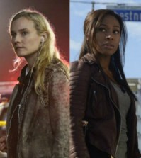 Pictured (L-R): Diane Kruger as The Bridge's Detective Sonya Cross and Nicole Beharie as Sleepy Hollow's Lieutenant Abbie Mills