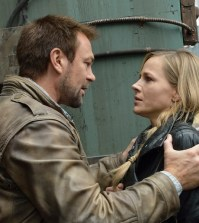 Pictured: (l-r) Grant Bowler as Joshua Nolan, Julie Benz as Amanda Rosewater -- (Photo by: Ben Mark Holzberg/Syfy)