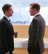 Pictured: (l-r) Patrick J. Adams as Michael Ross, Gabriel Macht as Harvey Specter -- (Photo by: Ian Watson/USA Network)