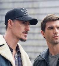 Pictured: (l-r) Eric Balfour as Duke Crocker, Lucas Bryant as Nathan Wuornos -- (Photo by: Mike Tompkins/Syfy)