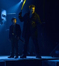 Pictured: (L-R) Ben Hyland as Zack Goodweather, Corey Stoll as Ephraim Goodweather. CR: Michael Gibson/FX