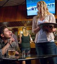 Pictured (L-R): Jensen Ackles as Dean and Emily Fonda as Ann Marie -- Credit: Liane Hentscher/The CW