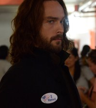 "Ichabod (Tom Mison) votes in the ""Deliverance"" episode of SLEEPY HOLLOW. Co. CR: Brownie Harris/FOX"