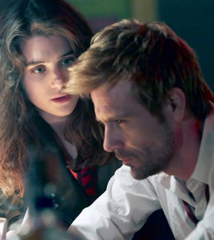 Pictured: (l-r) Lucy Griffiths as Liv, Matt Ryan as John Constantine -- (Photo by: Quantrell Colbert/NBC)