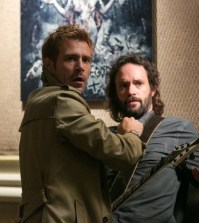 Pictured: (l-r) Matt Ryan as John Constantine, Marcus Hester as Ian Fell -- (Photo by: Tina Rowden/NBC)