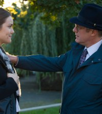 Pictured: (l-r) Megan Boone as Elizabeth Keen, James Spader as Red Reddington -- (Photo by: Virginia Sherwood/NBC)